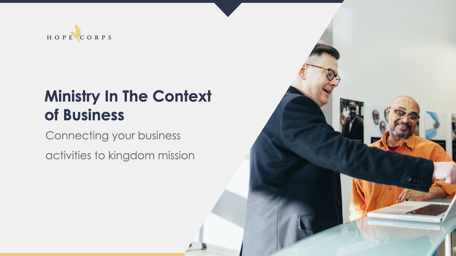 Hope Corps BAM | Ministry In The Context Of Business
