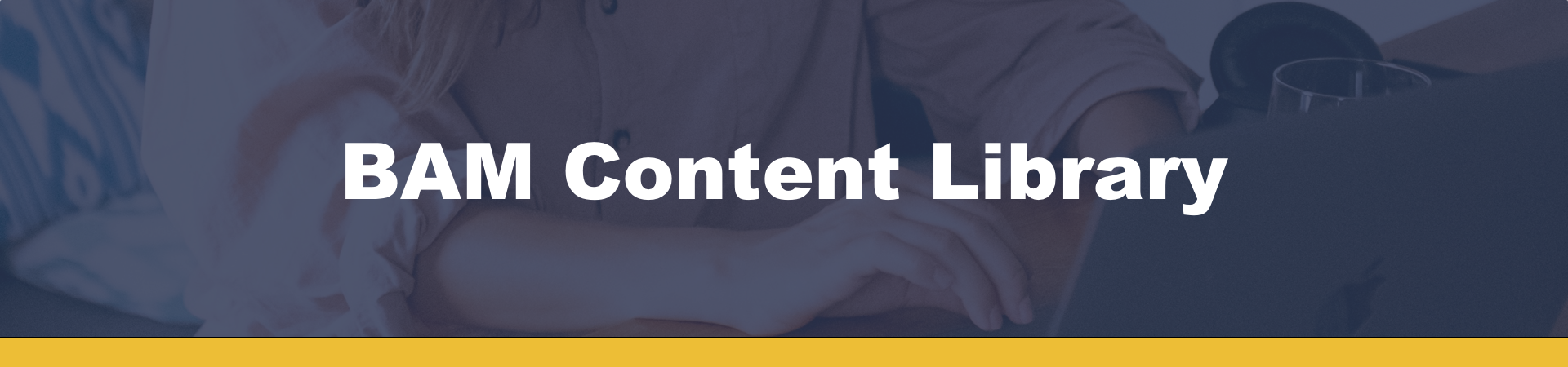 BAM Content Library Banner Image